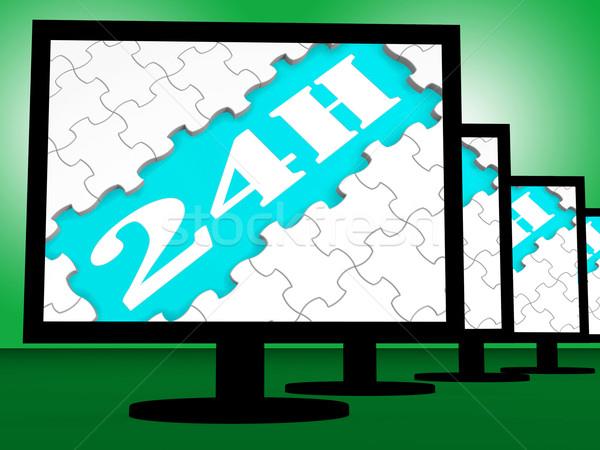 Mostrar vinte quatro hora serviço on-line Foto stock © stuartmiles