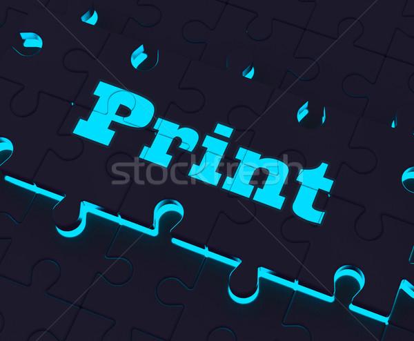 Print Key Shows Printer Printing Copying Or Printout Stock photo © stuartmiles