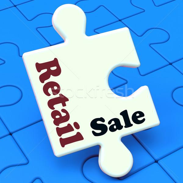 розничной продажи головоломки потребитель продажи Сток-фото © stuartmiles