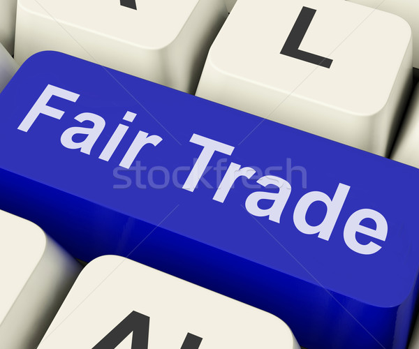Fairtrade Key Shows Fair Trade Product Or Products Stock photo © stuartmiles