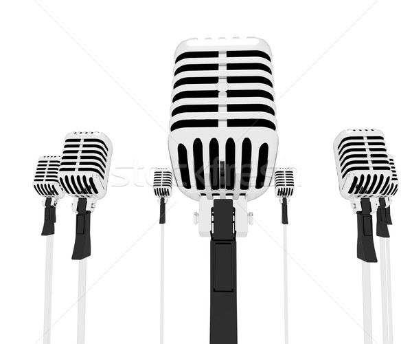 Mic Musical Shows Music Microphones Group Songs Or Singing Stock photo © stuartmiles