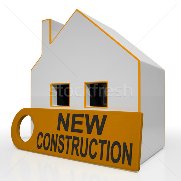 New Construction House Means Brand New Home Or Building Stock photo © stuartmiles