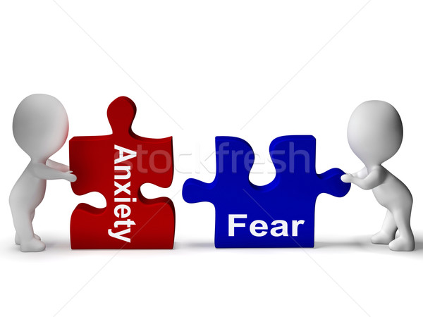 Anxiety Fear Puzzle Means Anxious And Afraid Stock photo © stuartmiles