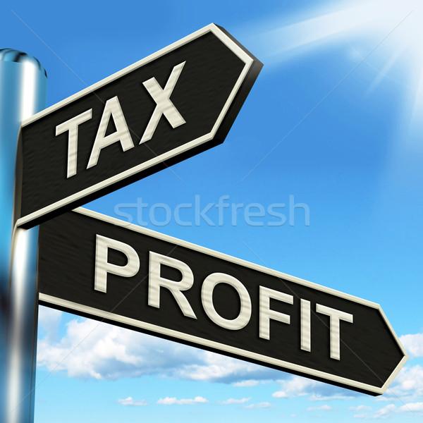 налоговых прибыль указатель налогообложение доходы смысл Сток-фото © stuartmiles