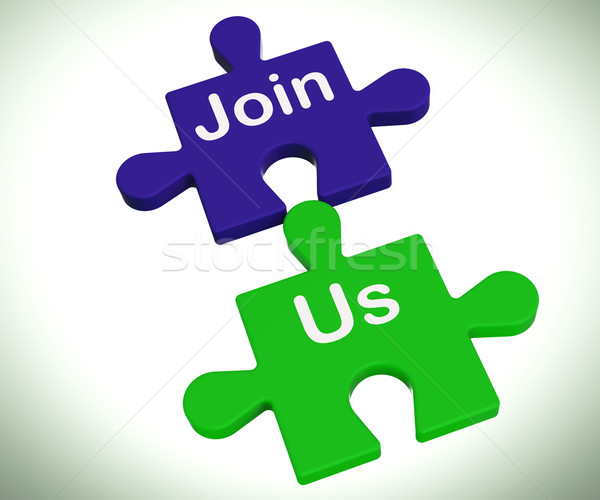 Join Us Puzzle Means Register Or Become A Member Stock photo © stuartmiles