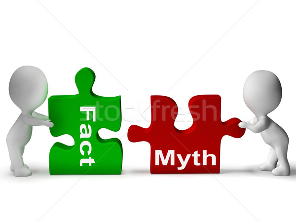 Fact Myth Puzzle Shows Facts Or Mythology Stock photo © stuartmiles