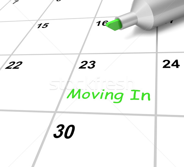Moving In Calendar Means New Home Or Tenancy Stock photo © stuartmiles