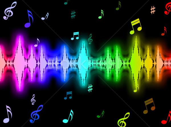 звуковая волна энергии графических частота смысл фон Сток-фото © stuartmiles