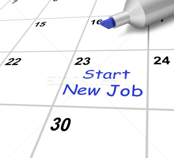 Commencer calendrier début emploi contrat Photo stock © stuartmiles