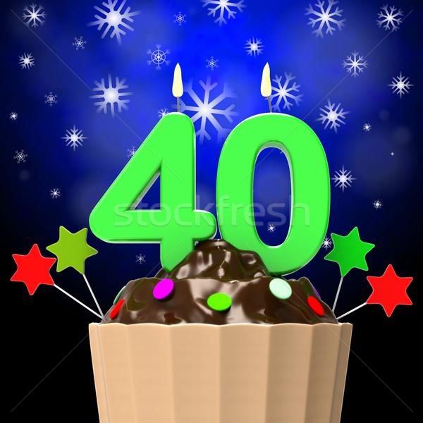 Quarante bougie ans anniversaire fête Photo stock © stuartmiles