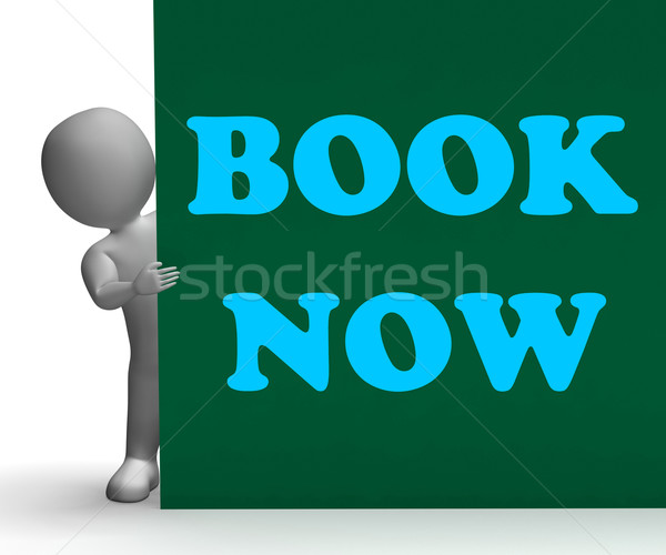 Book Now Sign Shows Hotel Room Reservation Stock photo © stuartmiles