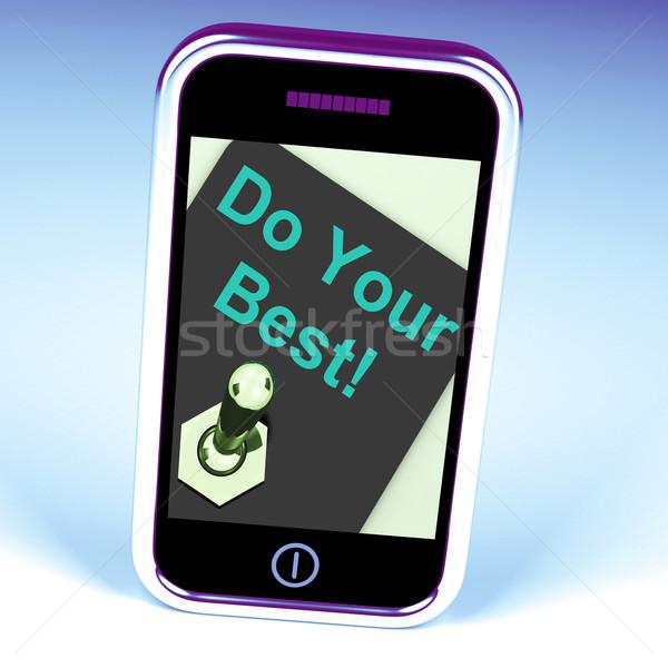 Best telefoon poging tonen internet www Stockfoto © stuartmiles