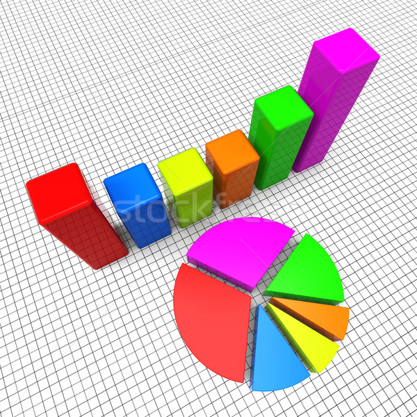 Pie Chart Shows Business Graph And Charting Stock photo © stuartmiles