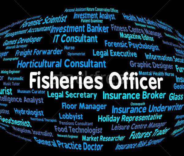 Oficial pescaria administrador trabalhar trabalho Foto stock © stuartmiles