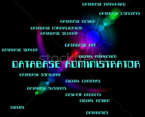 Banco de dados administrador computador significado supervisor cabeça Foto stock © stuartmiles