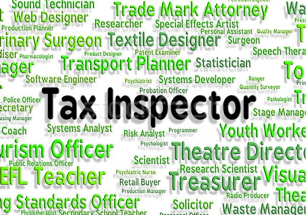 Fiscali supervisore lavoro monitor lavoro testo Foto d'archivio © stuartmiles