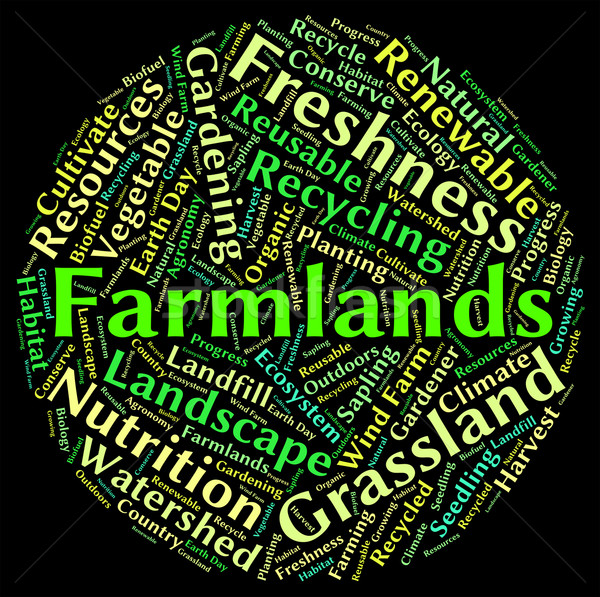 Farmlands Word Represents Text Cultivates And Farmstead Stock photo © stuartmiles