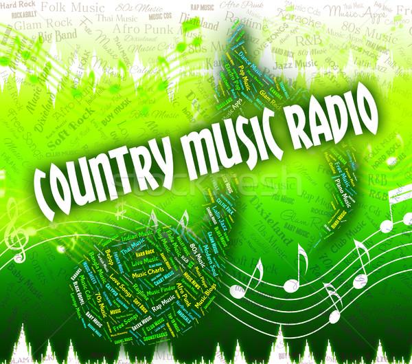 Vidék zene rádió hang útvonal akusztikus Stock fotó © stuartmiles