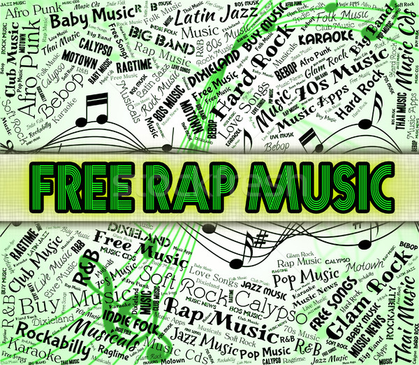 Free Rap Music Indicates No Charge And Complimentary Stock photo © stuartmiles