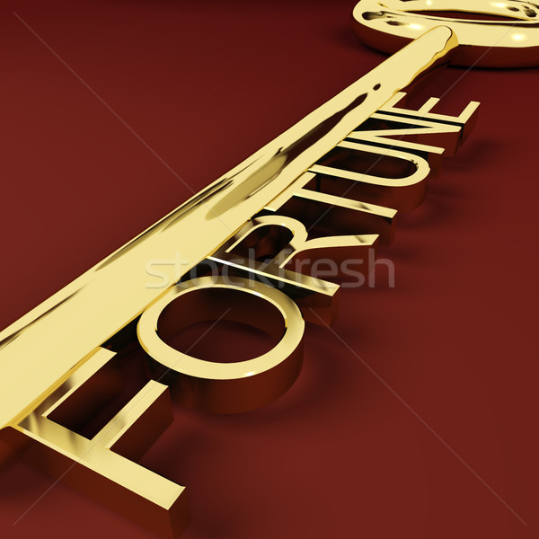 Fortune Key Representing Luck And Riches Stock photo © stuartmiles
