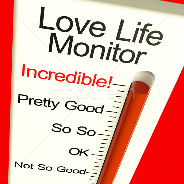 Love Life Meter Incredible Showing Great Relationship Stock photo © stuartmiles