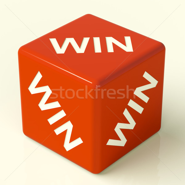 Win Dice Representing Champion And Success Stock photo © stuartmiles