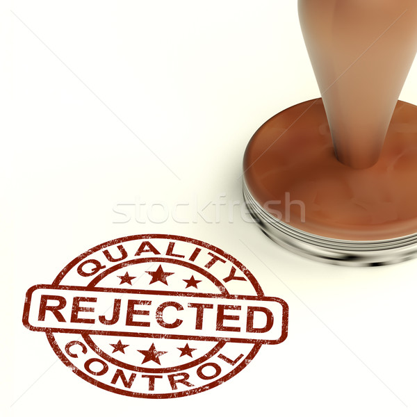 Rejected Stamp Showing Rejection Denied Or Refusal Stock photo © stuartmiles