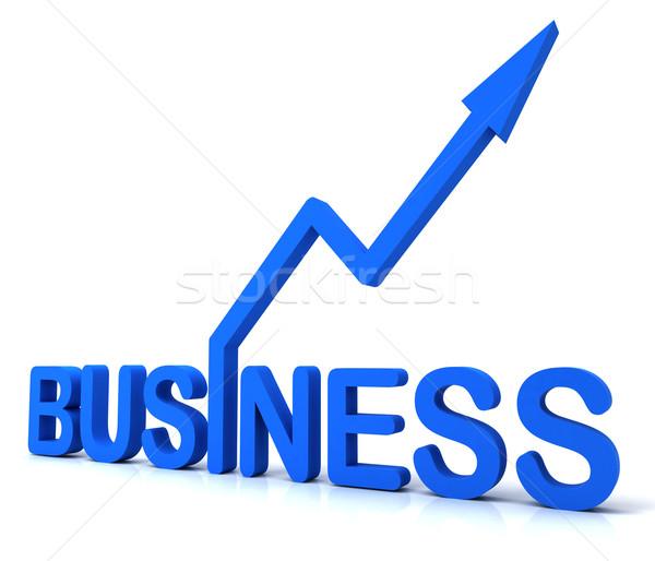 Blue Business Word Shows Commerce  Stock photo © stuartmiles