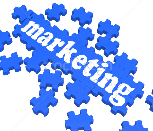 Marketing Puzzle Werbung Umsatz Strategie Stock foto © stuartmiles