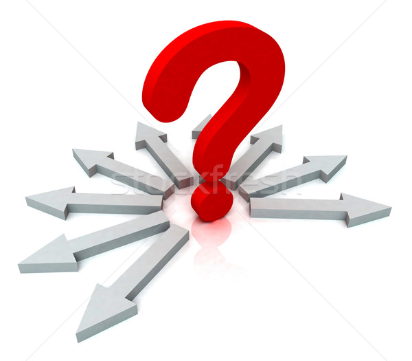 Arrows Surrounding Red Question Shows Choice Stock photo © stuartmiles