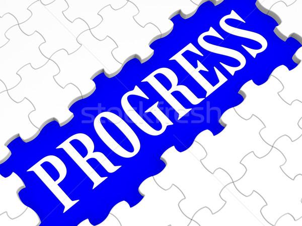 Progresso quebra-cabeça negócio crescimento sucesso Foto stock © stuartmiles