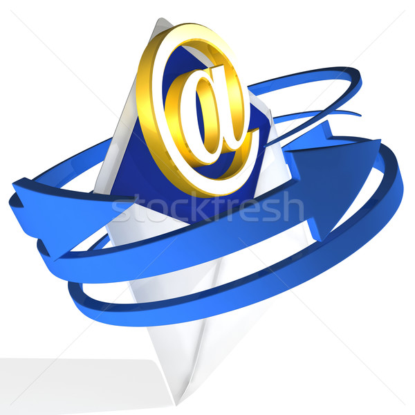 Arrows Circling Envelope Shows E-mail Stock photo © stuartmiles