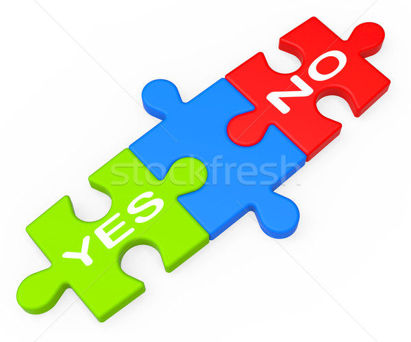 Yes No Shows Uncertainty And Decisions Stock photo © stuartmiles