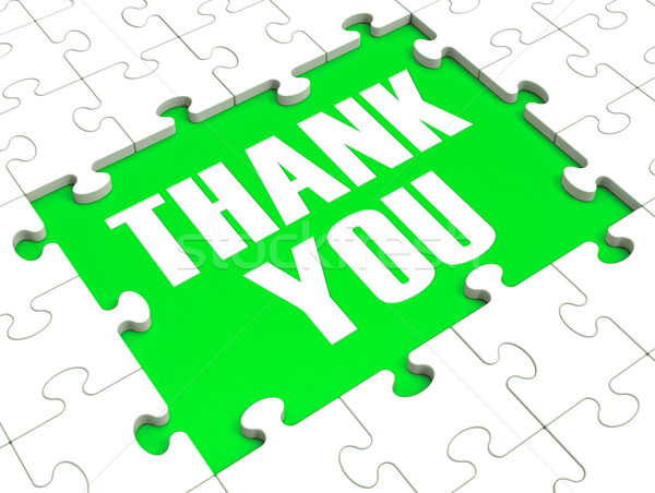 Thank You Puzzle Showing Thankfulness Stock photo © stuartmiles