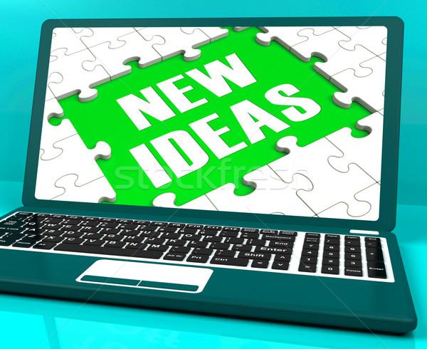 新しい 考え ノートパソコン 革新的な ストックフォト © stuartmiles