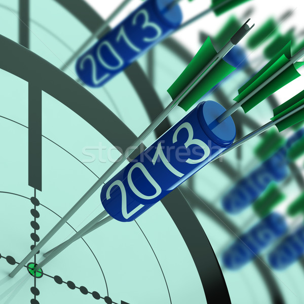 2013 Accurate Dart Target Shows Successful Future Stock photo © stuartmiles