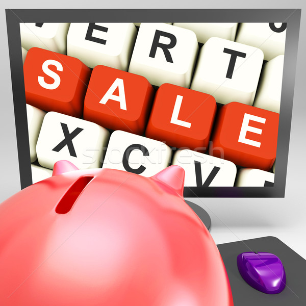 Sale Keys On Monitor Showing Special Promotions Stock photo © stuartmiles