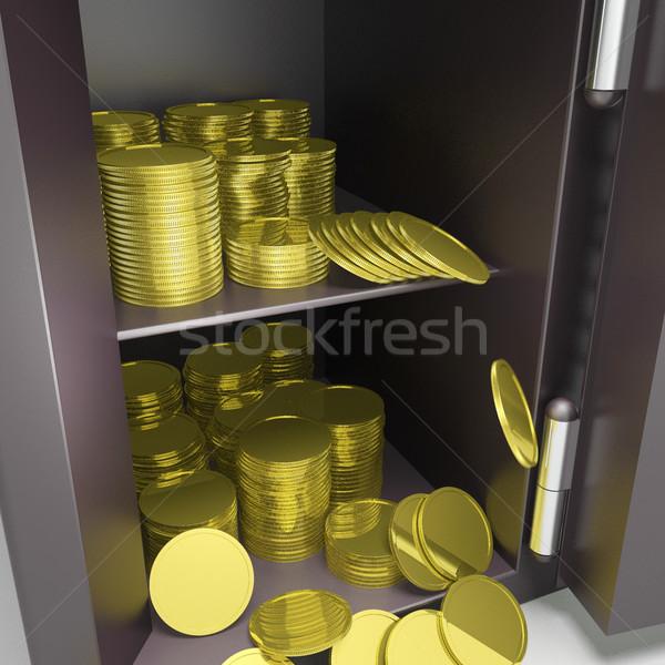 открытых безопасной монетами банковской безопасности Сток-фото © stuartmiles