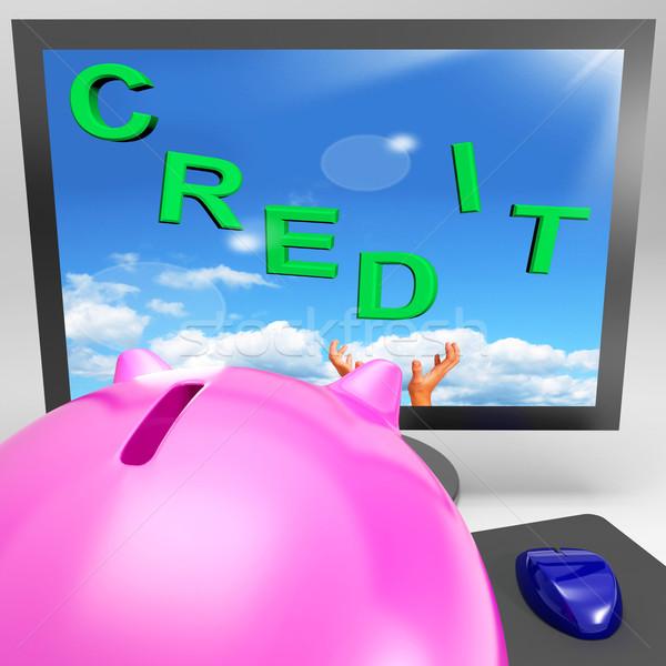 Crédito supervisar comercio dinero ganancias Screen Foto stock © stuartmiles