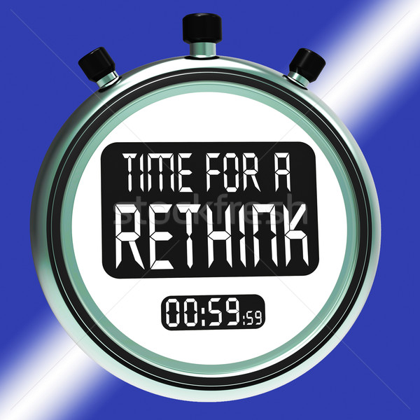 Time For A Rethink Means Change Strategy Stock photo © stuartmiles