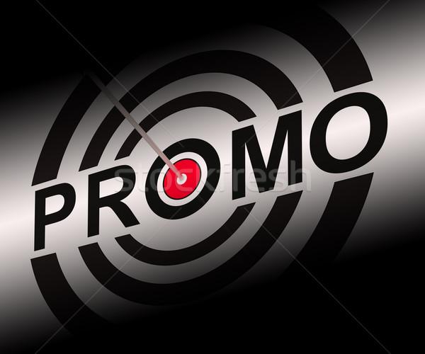 Promo alkalmi vétel hirdetés szórólap cél mutat Stock fotó © stuartmiles