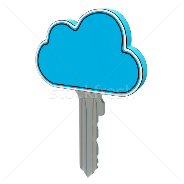 Cloud Computing Key Showing Internet Security Stock photo © stuartmiles