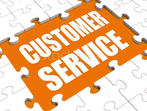 Customer Service Puzzle Shows Consumer Support Or Helpdesk Stock photo © stuartmiles