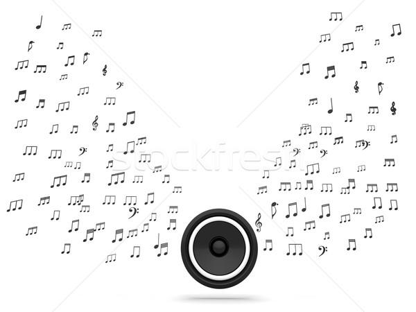 Stock fotó: Hangszóró · hangjegyek · zene · audio · hang · mutat