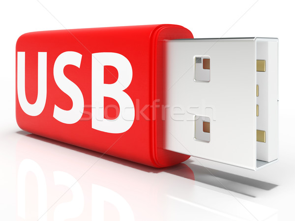 Usb Flash Drive Shows Portable Storage or Memory Stock photo © stuartmiles