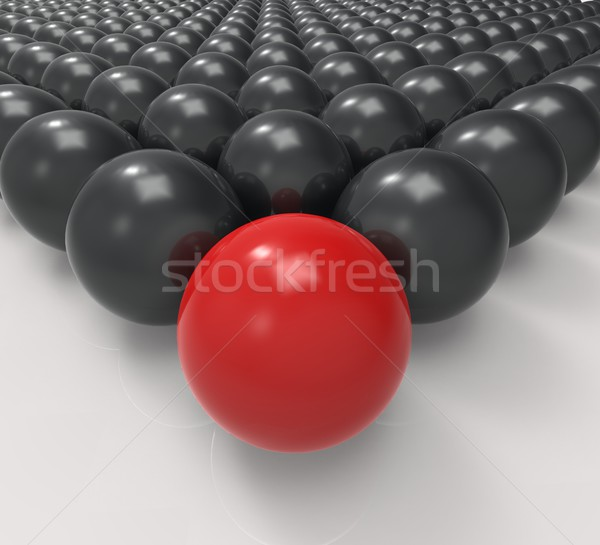 Führend metallic Ball Führung Mission Stock foto © stuartmiles