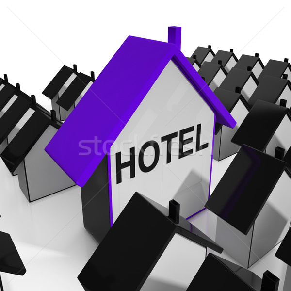 Hotel House Shows Place To Stay And Units Stock photo © stuartmiles