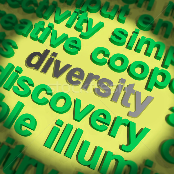Diversity Word Means Cultural And Ethnic Differences Stock photo © stuartmiles
