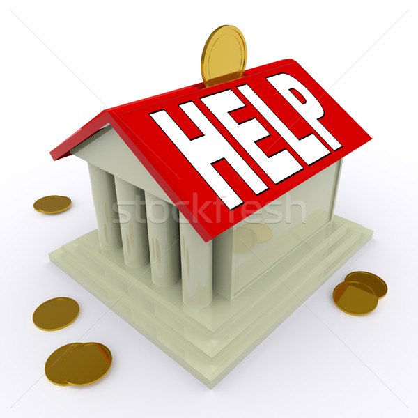 помочь дома деньги окна заем Сток-фото © stuartmiles