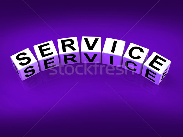 Service Blocks Refer to Assistance Help work or Business Stock photo © stuartmiles